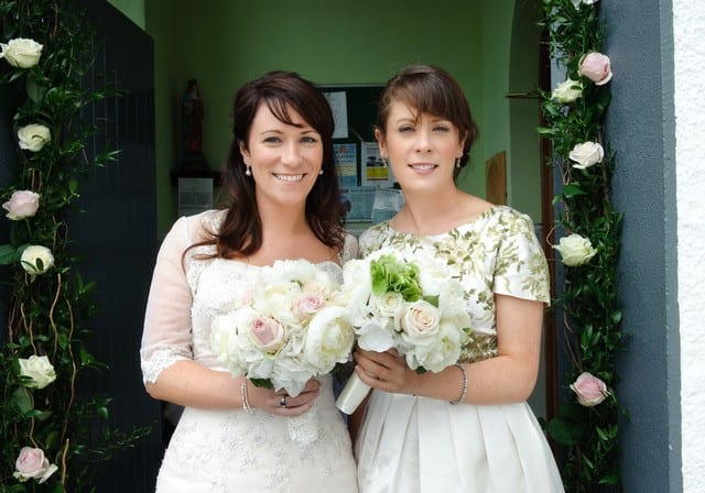 Wedding day with flowers